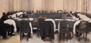 œuvre d'art montrant une réunion assommante